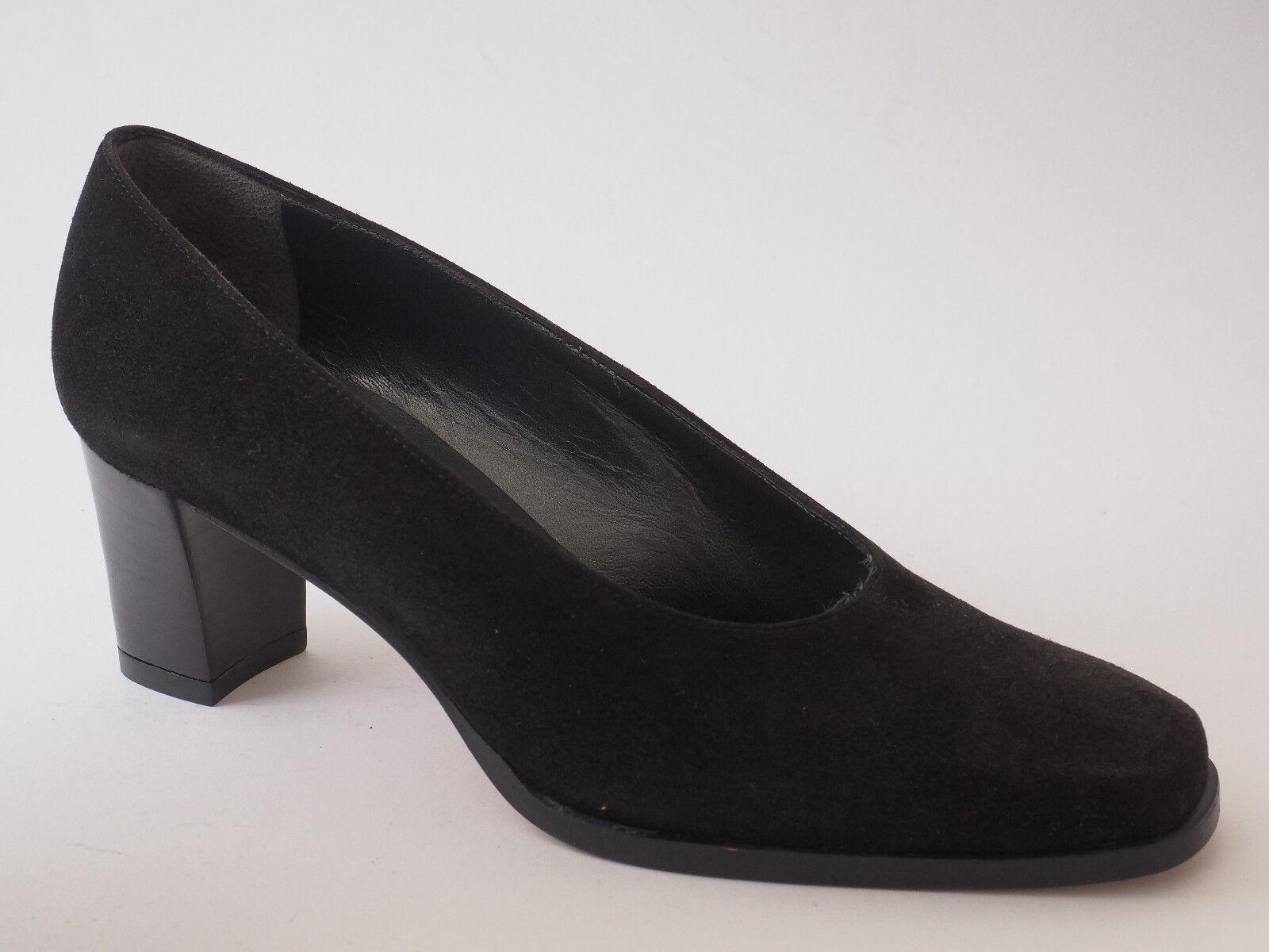MARCELLO GIOVANNETTI Velour Damen Schuhe 36 40,5 Abendschuhe Velour GIOVANNETTI Schwarz Pumps NEU 3b6467