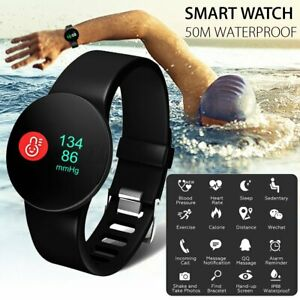 50M Waterproof Sports Smart Watch Heart Rate Blood Pressure Monitor iOS Android