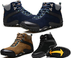 Men-039-s-Outdoor-Suede-Hiking-Hunting-Camping-Climbing-Waterproof-Ankle-Boots-Shoes