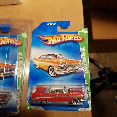 2009 Hot Wheels Treasure Hunt #44 Orange /'57 Plymouth Fury