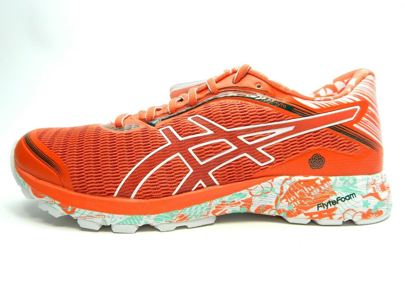 ASICS DYNAFLYTE TOKYO T6F8J 2018 MANDARIN Rouge Blanc Femme Chaussures Taille 9.5