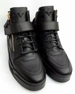 pelle Stivali 44 Medusa Uk10 Us11 Sneakers Sneakers Versace Novità in nera qc34LA5RjS