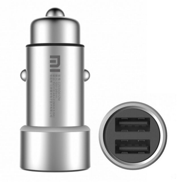Xiaomi MI Dual USB Car Charger Metal Style 5V/3.6A Fast Charging with LED Light