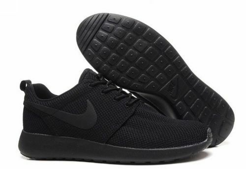 Men's Nike Roshe Run Fitness Trainers BLACK ON BLACK UK SIZE 10 UK NEW Comfortable and good-looking