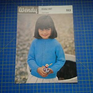 Vintage-Wendy-Girls-Sweater-in-Double-Knit-Knitting-Pattern-883