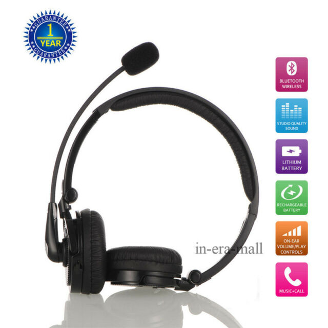 Best Bluetooth Earpiece Wireless Headset Stereo Headphone Noise Cancelling For Sale Online Ebay