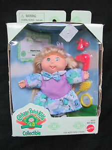Obedient New 1995 Cabbage Patch Kids Kid Collection Mattel #69222 Elspeth Ruth July 30 Pure Whiteness Dolls
