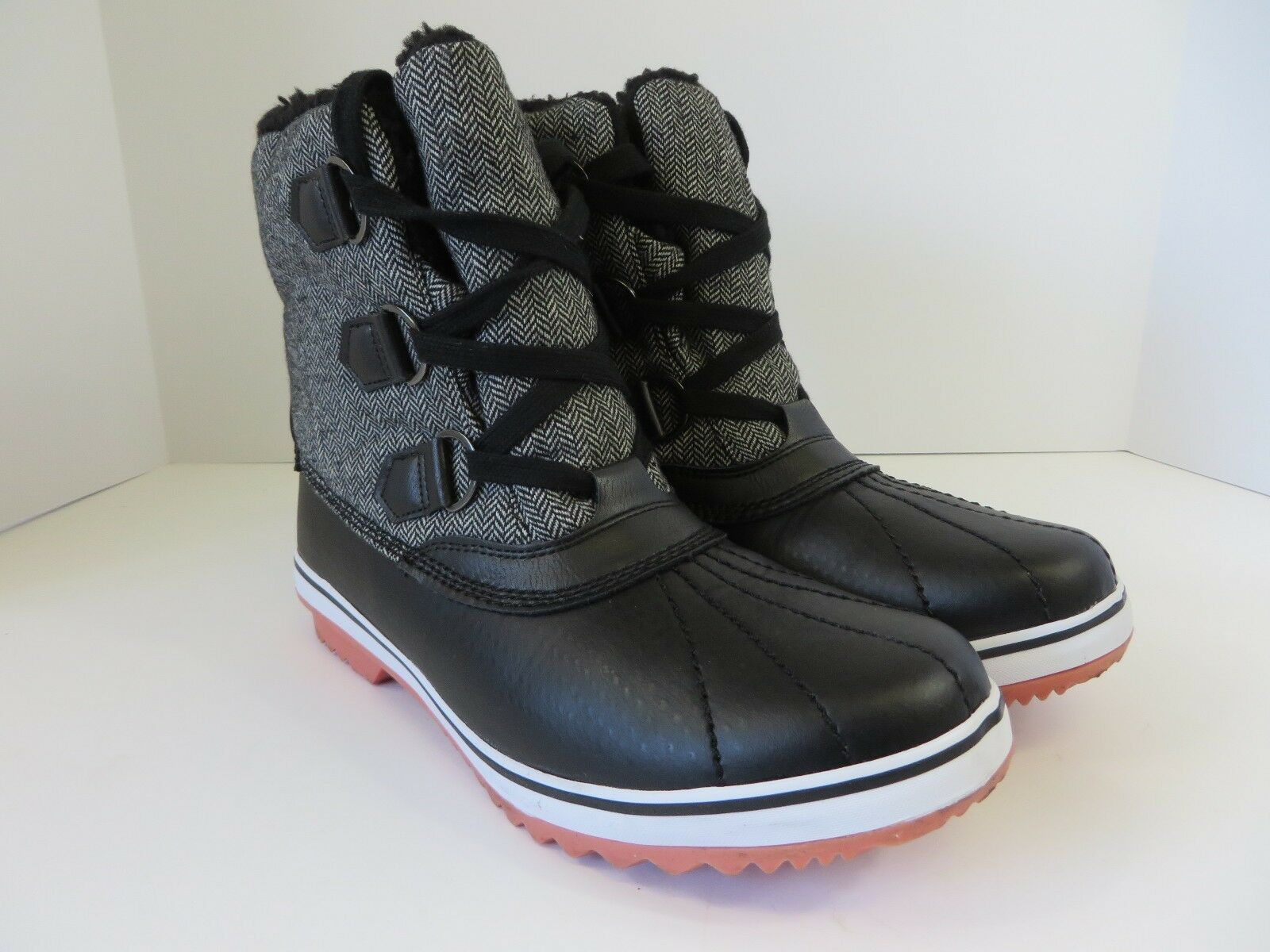 JBU by Jambu Womens Brenda Boot All Terrain Rugged Fashionable Black 9M #B486