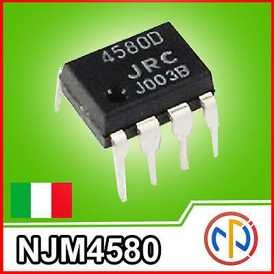 NJM4580D Amplificatore Operazionale Duale a Basso Rumore 800mW DUAL-OP DIP-8