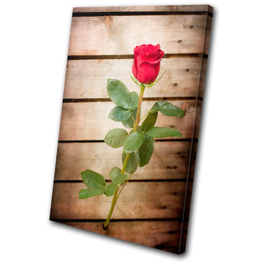 Floral rosa Flowers Love SINGLE TELA parete parete parete arte foto stampa c3f166