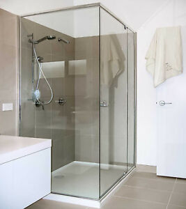 Details About Any Size Shower Screen Semi Frameless Pivot Door Corner