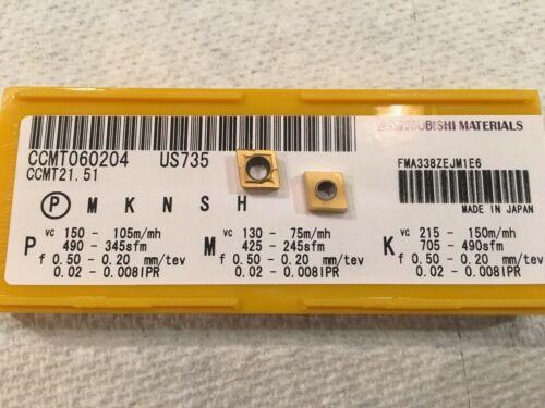 1 Box Of 10  Mitsubishi Carbide Inserts CCMT060204 CCMT 21.51 US735