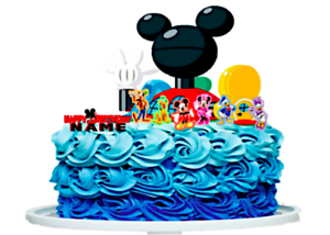 Amazing Personalized Mickey Mouse Clubhouse Cake Topper Ebay Personalised Birthday Cards Veneteletsinfo