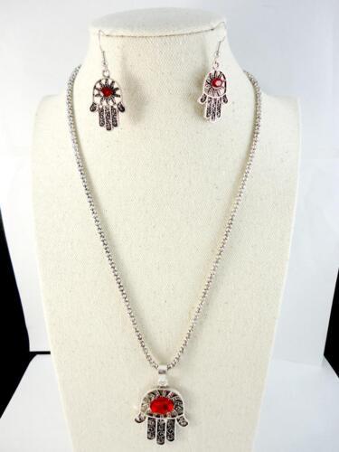 Retro Silver Jewelry Set Women Pendant Earring Necklace Chain Free Shipping BPF