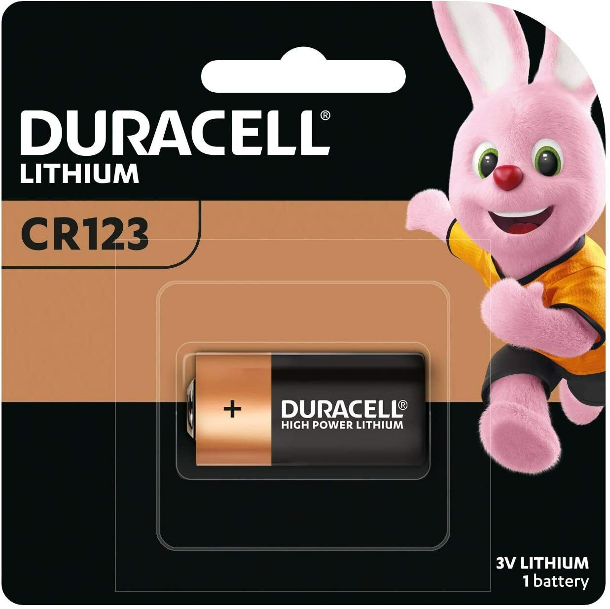 Duracell Specialty 123 3V Ultra Lithium Photo Battery, 1 Pack
