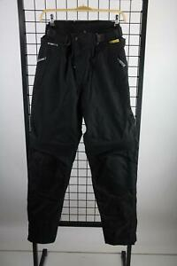 Roleff-schwarze-Textil-Motorradhose-Groesse-M-Long-Polyester-Top-Zustand