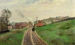 Oil-painting-Camille-Pissarro-Lordship-Lane-Station-East-Dulwich-Impressionism