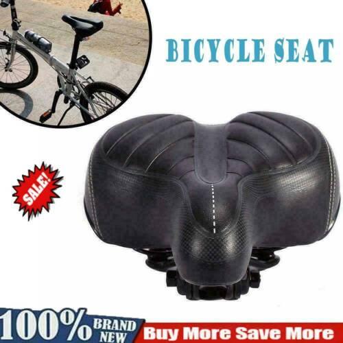 Comfort Wide Big Bum Bike Bicycle Gel Cruiser Extra Pad Soft Sp Saddle Seat Q3Z5