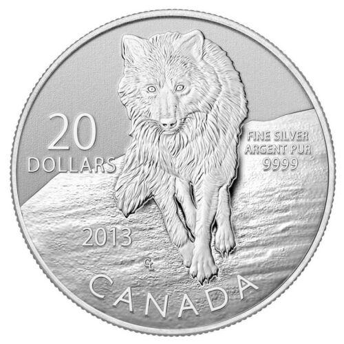 2013 Canada $20 Fine Silver Coin Wolf
