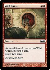 Wild Guess    x4  EX/NM JAPANESE M14  MTG Magic  Red   Common