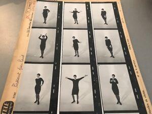 PLANCHE CONTACT ORIGINALE DE 1966 JOHNNY HALLYDAY