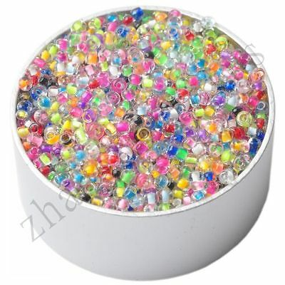 New 1000 Pcs Colorful Round Czech Glass Spacer Loose Beads Jewelry Findings 2 mm