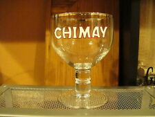 CHIMAY BELGIAN Beer Chalice Silver Trim .25CL Pint Glass
