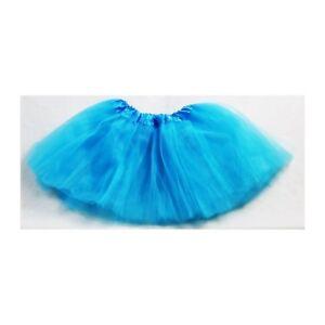 Filles-Enfants-28cm-Tutu-Star-Jupe-Fete-Princesse-Danse-Ballet-3-Couches-Bleu