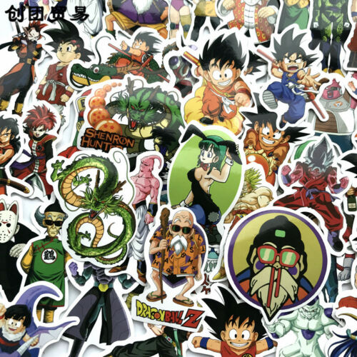 100 Dragon Ball Cartoon Stickers Vinyl Skateboard Guitar Travel Case Pack Decals