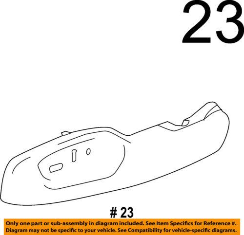 Chevrolet GM OEM 14-18 Corvette Driver Seat-Outer Finish Panel 23440274