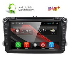 "8"" Android 6.0 Car Radio Stereo DVD Player GPS Navi Multimedia DAB+ 1080P for VW"