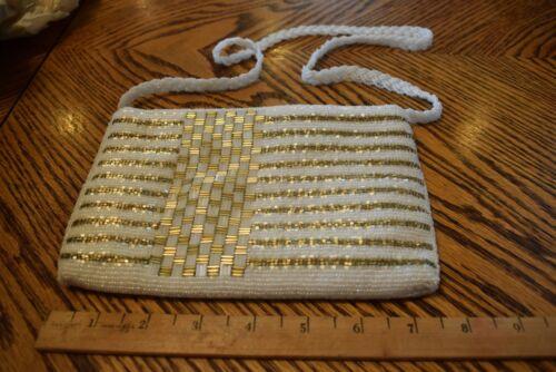 stil Abendtasche wei Ltere Hong Perlen amp; Handtasche Markierte Gold Retro Kong 5nYn8gR