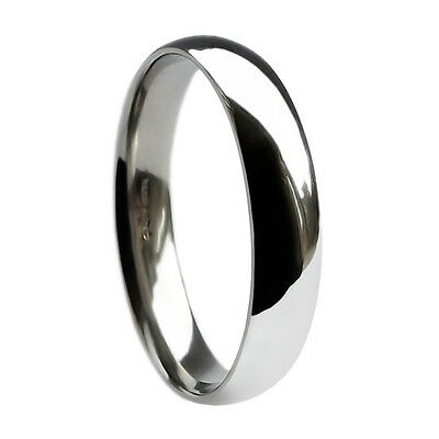 Clever 4mm 950 Palladium Wedding Rings Court Comfort Bands Uk Hallmarked Solid I-z1 New