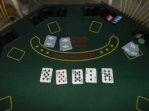 Beau Image Is Loading Poker Amp Blackjack Table Top With Case Solid