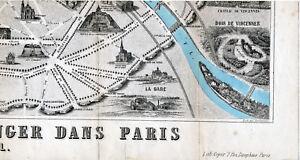 Paris Bois de Vincennes 1871 pt. plan ville orig. (partie) Gobelins Salpetrière mVHG3tOu-09163002-192597627