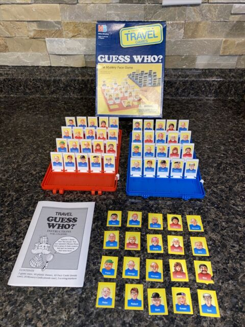 Vintage 1989 Milton Bradley/MB Guess Who? Travel Board Game Complete Box