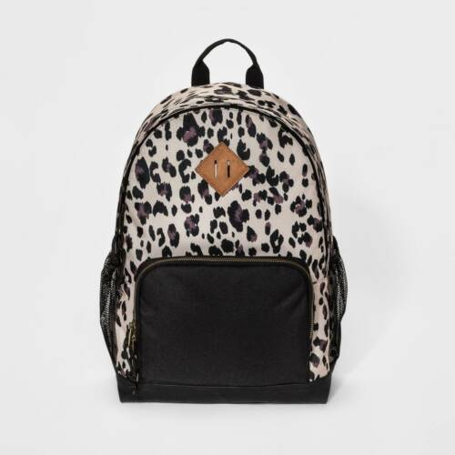 Nwt Mossimo Women's Black Leopard Print Backpack by Mossimo