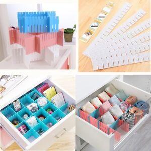 1-4x-Adjustable-Drawer-Clapboard-Partition-Divider-Cabinet-Storage-Organizer-Set