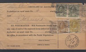 Admiral HOuseholder receipt 54c, 1926 special price Canada cover