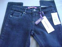Girl's Yaso Denim Jeans Sz 12 Skinny Sequin Pockets Stretch Dark Wash 158
