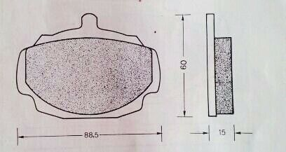 VAUXHALL VICTOR FB AND VX 4//90 NEW QUALITY FRONT BRAKE PADS
