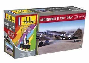 Avion Messerschmitt BF108 taifun Maquette a monter Heller 1:72 +colle peintures