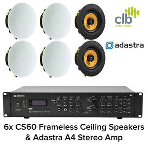 Details About Bluetooth Ceiling Speaker System Stereo Amp With 6 Speakers Bluetooth Usb Fm
