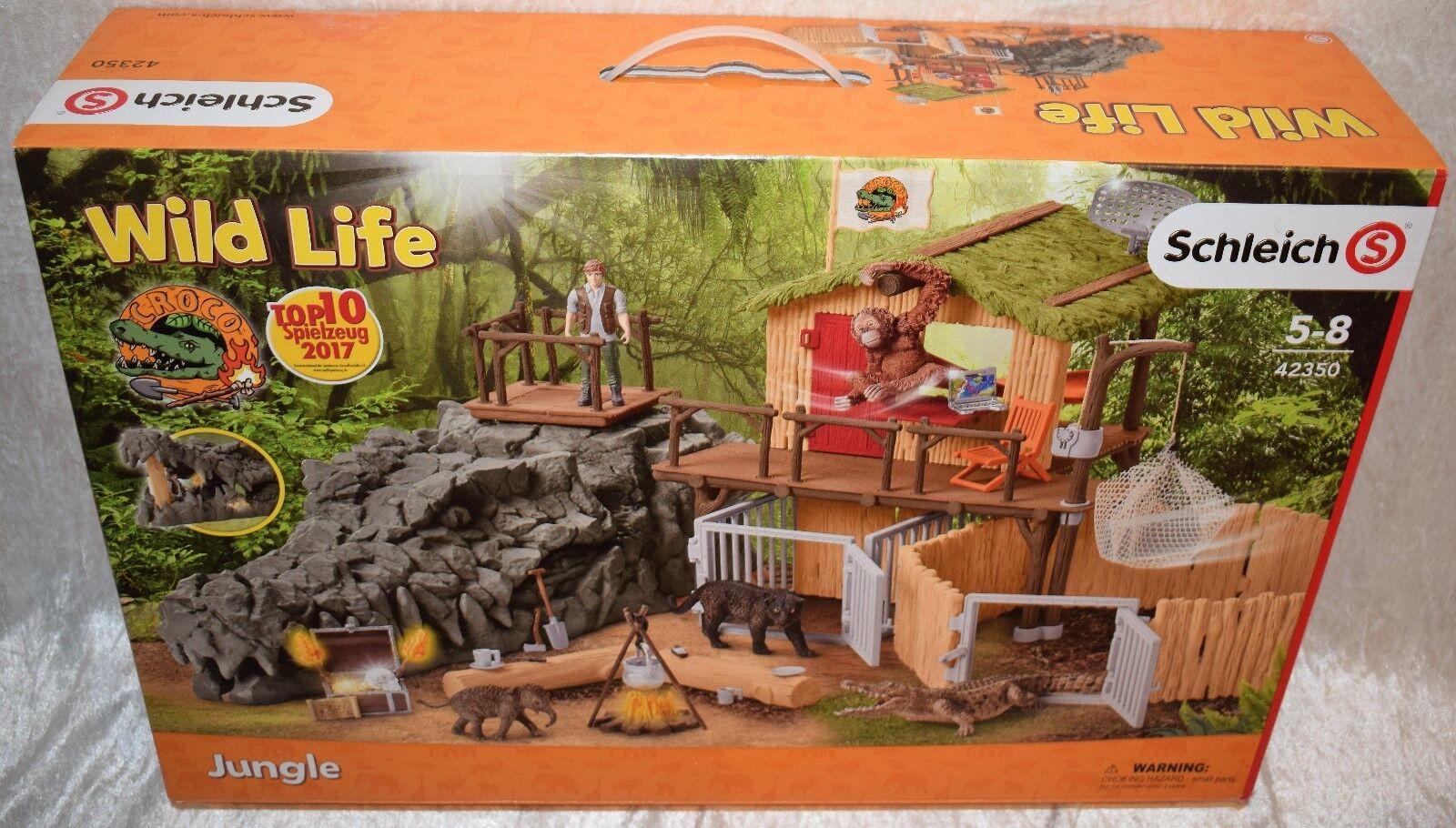 Schleich  Wild Life 42350 Dschungel Forschungsstation mit Zubehör Neu u. OVP