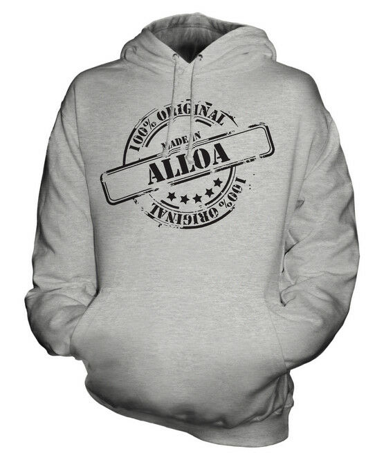 MADE IN ALLOA UNISEX HOODIE  Herren Damenschuhe LADIES GIFT CHRISTMAS BIRTHDAY 50TH