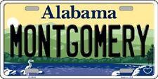 Montgomery Alabama Background Novelty Metal License Plate