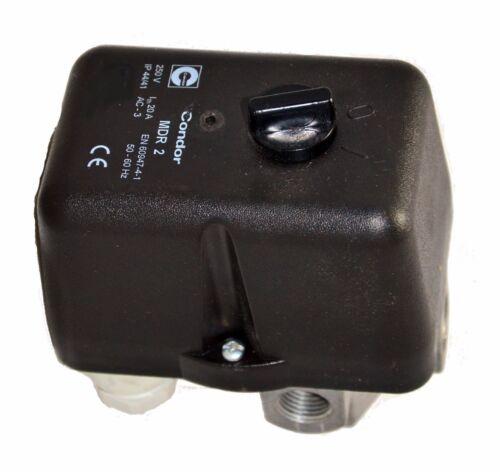 Condor Pressione Interruttore MDR 2//11 230 Volt g1//4 con 4 vie a flangia EV