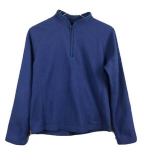 Women-s-Vintage-Patagonia-Synchilla-USA-Blue-Fleece-1-4-Zip-Pullover-Size-Large