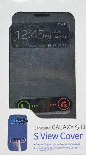 Samsung Galaxy Teléfono Cubierta de vista S III S Negro