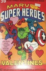 Vintage-MARVEL-SUPER-HEROES-Valentine-Cards-1990-39-Valentines-Warner-Bros